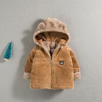 一岁半男宝宝帅气外套秋冬婴儿冬装0小童棉衣冬1加绒加厚2小洋气3