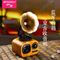 Sansui/山水 T31 蓝牙音箱复古无线收音机手机音响USB插卡低音炮