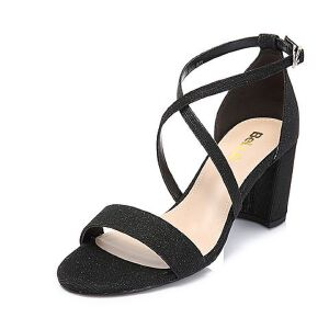 Belle/百丽2018夏专柜新款亮线布女凉鞋BPFE6BL8