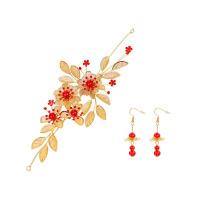 中式古装发饰服礼服配饰品 新娘古装红色