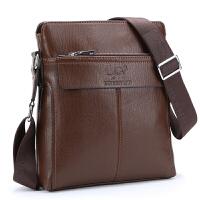 新款男包单肩包男 男式斜挎包竖款休闲跨包男士包包