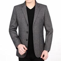 春秋男士西服休闲上衣中年韩版西装外套30单西40薄款50岁爸爸秋装xx