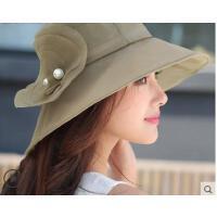 新品时尚韩版防晒防紫外线遮阳帽女可折叠大沿太阳帽