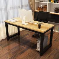 钢木办公桌经济型台式电脑桌简约现代卧室桌组装写字台书桌可定制