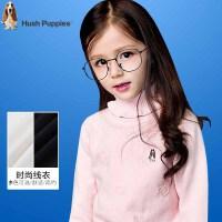 【3折价:77.7元】暇步士童装女童新款秋装中大童翻高领针织衫儿童时尚套头毛衣