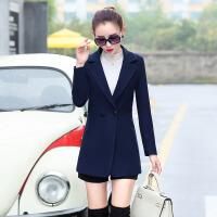 春秋冬女装毛呢外套中款西装韩版修身显瘦小个子短大衣25-30-40岁