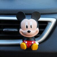 创意卡通米妮米奇出风口香水夹蜡笔小新公仔汽车香熏摆件汽车用品