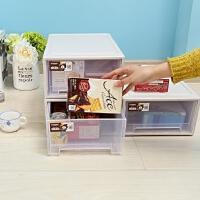 透明抽屉式收纳柜衣柜大号收纳箱塑料整理箱储物柜自由组合柜 特 1个
