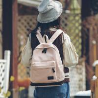 书包女韩版原宿高中学生街头潮流百搭旅行背包帆布双肩包