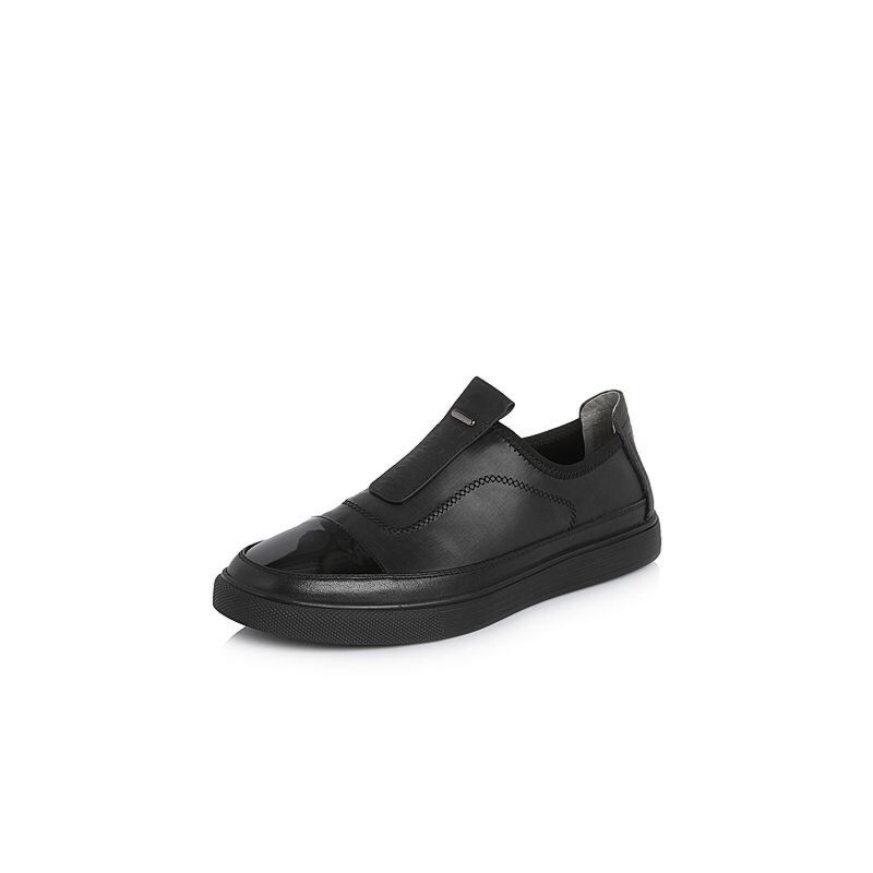 Belle/百丽2018春季新品专柜同款纺织品/牛皮革男休闲鞋5RC02AM8