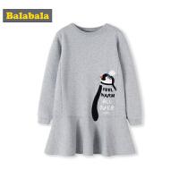 巴拉巴拉儿童裙子2018新款冬季女大童洋气连衣裙时尚百褶裙韩版女