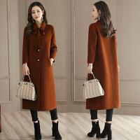 毛呢外套女过膝长款20秋冬季新款韩版时尚名媛气质修身呢子大衣