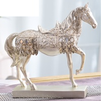 艾欧唯 酒柜装饰品摆件马室内欧式家居创意客厅办公桌小饰品摆设工艺品