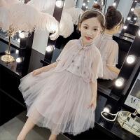 连衣裙夏装2019新款小女孩短袖儿童夏天公主裙子