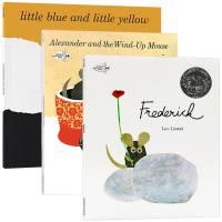 李欧李奥尼作品3册 英文原版绘本 Frederick Little Blue and Little Yellow 小黄