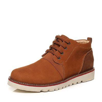 Belle/百丽冬季专柜同款打蜡牛皮时尚帅气男皮靴36EA3DD6
