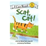 英文原版 Scat, Cat!猫咪,走开 [平装] [4-8岁]