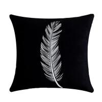 ?【天天特价】北欧抱枕含芯双面图案白色毛绒靠枕现代简约沙发靠垫?