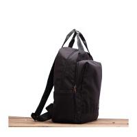 韩版防水尼龙双肩包女包旅行学生收纳包商务书包男15.6寸电脑背包 黑色小号 装13.3寸电脑