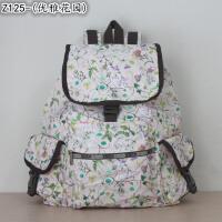 力士保学院风尼龙女包大号妈咪包休闲包双肩书包背包旅行包7839SN4259 乳白色 Z125