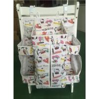 宝宝床品婴儿床挂袋可水洗收纳袋床头尿布尿片袋奶瓶整理袋 乳白色 白底HT