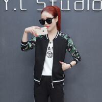 韩版宽松时尚印花显瘦休闲服女卫衣潮运动套装女三件套