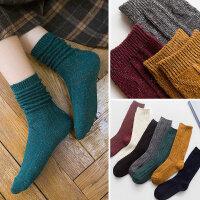 新款金银丝彩丝堆堆袜女士韩国秋冬森系学院风中筒袜子韩版纯色袜