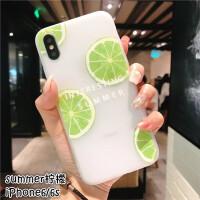 iPhone6s手机壳苹果7浮雕壳6splus保护套8p磨砂防滑软壳夏季水果x可爱小清新男女情侣全包