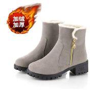 雪地靴女2018秋冬新款保暖加厚短靴棉鞋防滑短筒棉靴妈妈鞋女