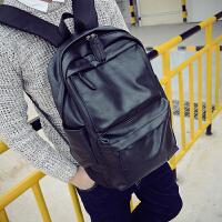 休闲双肩包男士背包韩版学生书包女时尚潮流运动旅行电脑男包潮包 黑色