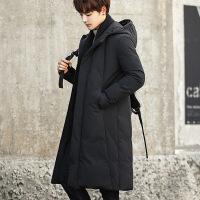 冬季棉衣中长款过膝加厚韩版青年连帽羽绒士修身潮流