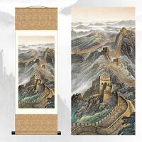 万里长城 中国画国画卷轴画山水字画客厅中式挂画长城礼品