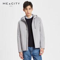 【2件2.5到手价:282.5】MECITY男装2019春季新款时尚保暖羽绒服韩版潮流连帽外套