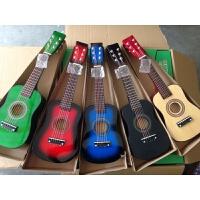 儿童玩具吉他23寸彩色发声男女小孩可弹奏钢弦木质送配件a286
