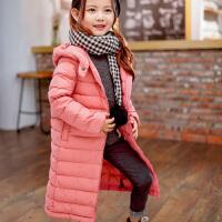2018新品儿童羽绒服轻薄款男童女童宝宝加厚冬装中长款白鸭绒外套