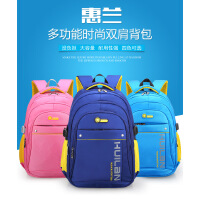 新款韩版儿童小孩小学生书包防水男女1-3-4-6年级减负护脊儿童背包8-10-12岁防水耐磨双肩包 防水防刮大容量 厚