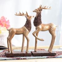 家居饰品客厅装饰摆件欧式鹿酒架酒柜电视柜小装饰品摆设玄关家装