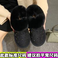 加厚雪地靴女加绒毛毛鞋冬季新款平底短靴女士保暖棉鞋韩版女鞋秋