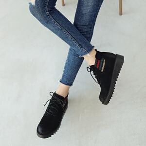 ZHR小短靴子女潮2018秋冬季新款韩版百搭学生网红靴切尔西马丁靴