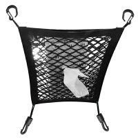 汽车座椅间储物网兜车内收纳挂袋车载挡网椅背置物袋汽车用品超市 升级4边弹性款
