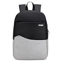 男士背包电脑双肩包男时尚潮流青年旅行大学生书包简约大容量