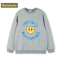 巴拉巴拉男童T恤长袖新款秋冬中大童儿童宽松圆领上衣时尚韩