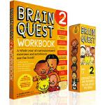 大脑任务 Brain Quest Grade 2 二年级 Ages 7-8岁儿童智力问答开发 盒装卡片 练习册 2年级