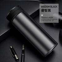 FOI保温杯男316不锈钢商务泡茶500ml大容量定制刻字水杯子