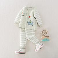 婴儿保暖套装0一1岁秋冬夹棉加厚秋衣秋裤婴幼儿儿童宝宝内衣