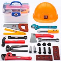 儿童过家家男孩仿真维修修理工具玩具手提箱工具箱套装巴布工程师 A款工具箱套装+工具帽 22件