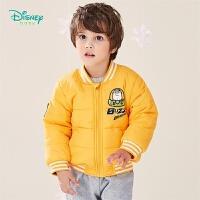 【2件3折到手价:84.6】迪士尼Disney童装 男童保暖夹棉外套冬季新品飞行员夹克版型上衣V字领棉服194S118