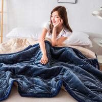 双层加厚保暖珊瑚绒毛毯被子法兰绒毯子冬季单人床单