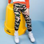 【3折价:115.83元】暇步士童装新款男童迷彩印花单层长裤儿童裤子