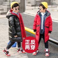中大童男童棉衣外套中长款加厚冬季棉袄儿童冬装2018新款韩版洋气